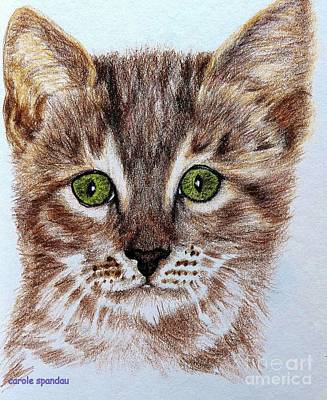Painting - Kitty Kat Iphone Cases Smart Phones Cells And Mobile Phone Cases Carole Spandau 311 by Carole Spandau