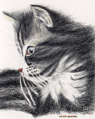 Painting - Kitty Kat Iphone Cases Smart Phones Cells And Mobile Phone Cases Carole Spandau 314 by Carole Spandau