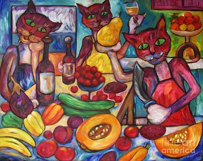 Painting - Kitty Kitchen Cuisine by Dianne  Connolly