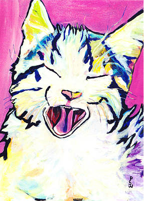 Painting - Kitty Kry by Pat Saunders-White