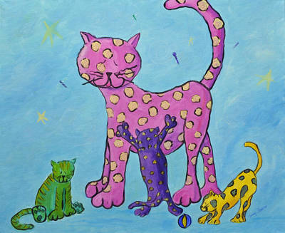 Painting - Kitty Litter by Kenny Francis