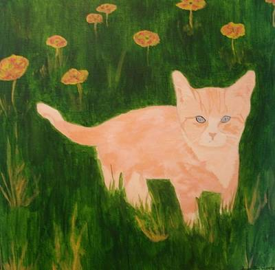 Painting - Kitty by Samantha L
