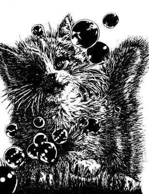Kitty Art Print by Shabnam Nassir