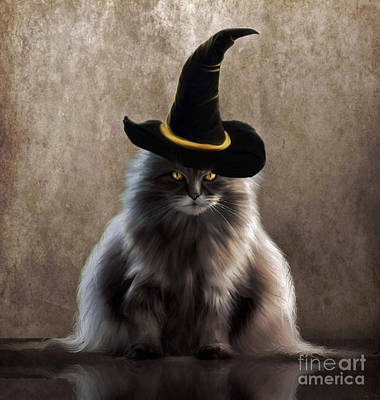 Painting - Kitty Witch by Lynn Jackson