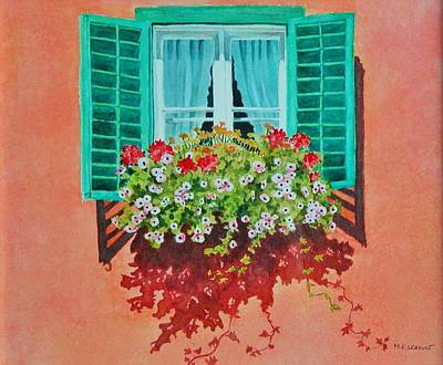 Kitzbuhel Window Art Print by Mary Ellen Mueller Legault