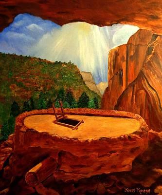 Kiva In Bandelier National Monument Original by Janis  Tafoya