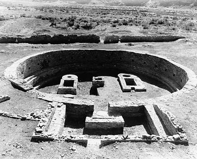Kiva Photograph - Kiva Ruins by Library Of Congress