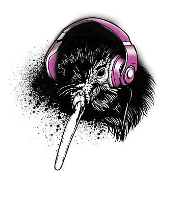 Aotearoa Digital Art - Kiwi Beats by Iata Peautolu