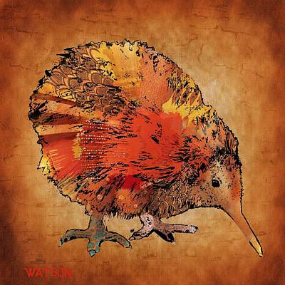 Kiwi Digital Art - Kiwi Bird by Marlene Watson