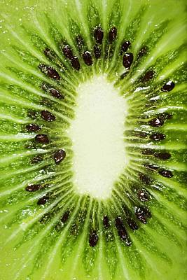 Background And Textures Photograph - Kiwi Slice by Chris Knorr
