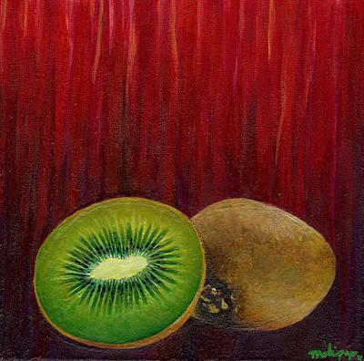 Kiwi Sorbet Art Print by Melissa Pop