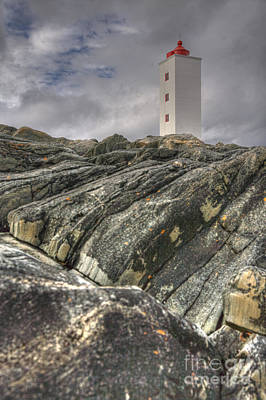Kjolnes Lighthouse 3 Art Print by Heiko Koehrer-Wagner