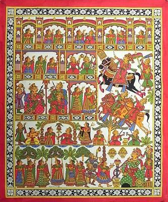 Indian Tribal Art Painting - Kjoshi 02 by Kalyan Joshi