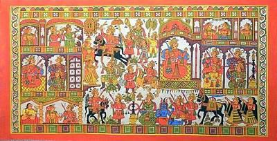 Indian Tribal Art Painting - Kjoshi 04 by Kalyan Joshi