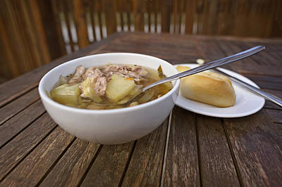 Photograph - Kjotsupa Traditional Icelandic Lamb Soup Stew  by Marianne Campolongo