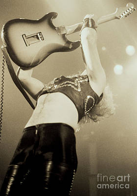 K K Downing Of Judas Priest At The Warfield Theater During British Steel Tour - Unreleased Art Print