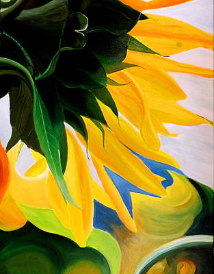Painting - Kk's Sunflower by JoeRay Kelley