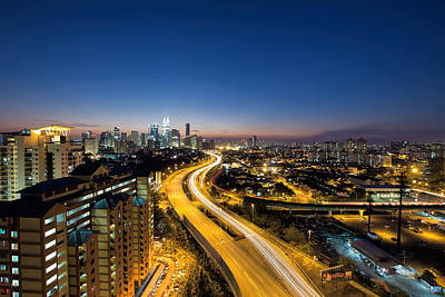 Kl At Blue Hour Art Print by David Gn