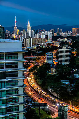Twin Towers Photograph - Kl City by Adrian Evans