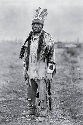 Wall Art - Photograph - Klamath Indian Man Circa 1923 by Aged Pixel