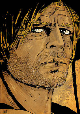 Wild West Drawing - Klaus Kinski by Giuseppe Cristiano