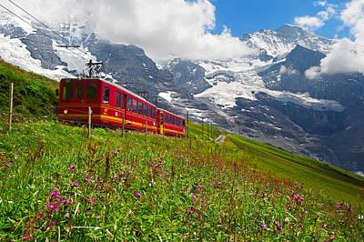 Photograph - Kleine Scheidegg by Bernard Chen