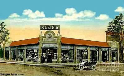 Painting - Klein's Corner In Wollaston Ma 1913 by Dwight Goss
