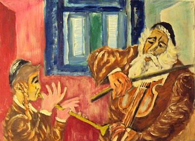 Painting - Klezmer by Mimi Eskenazi