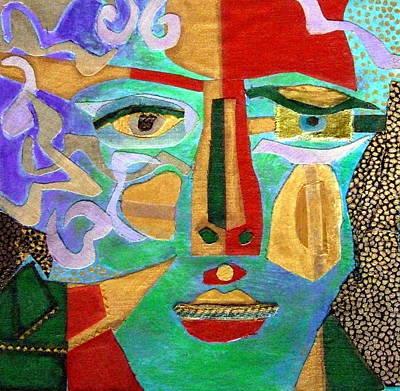 Klimt Face Art Print