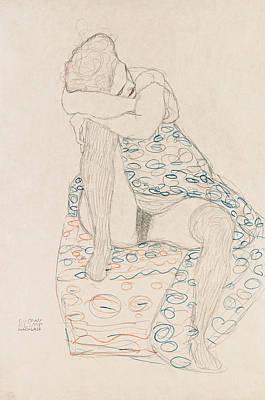 Klimt Seated Figure, 1910 Art Print