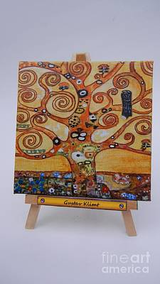Klimt Tree Of Life Art Print by Diana Bursztein