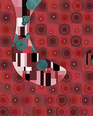 Forms Digital Art - Klimtolli - 01rdbl01 by Variance Collections