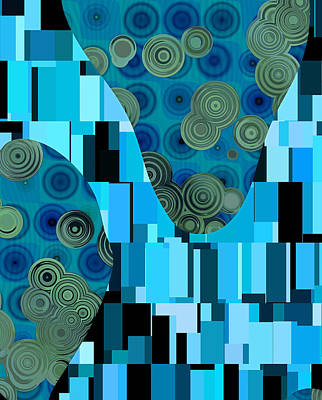 Rectangles Digital Art - Klimtolli - 08blbl0101 by Variance Collections