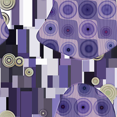 Purple Digital Art - Klimtolli - 28 by Variance Collections