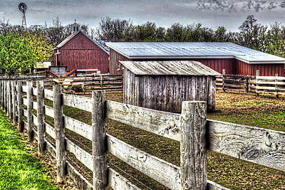 Photograph - Kline Creek Farm Sheep Pen by Roger Passman