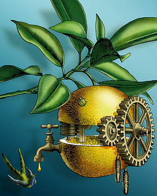 Goldberg Digital Art - Klockwerk Orange Patent Pending by Vanessa Bates