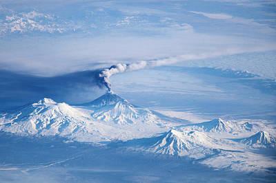 Klyuchevskoy Volcano Astronaut Photograph Art Print by Nasa/jsc