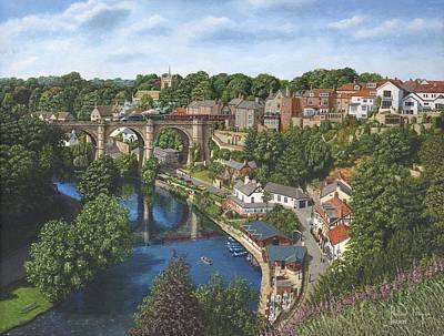 Richard Painting - Knaresborough Yorkshire by Richard Harpum