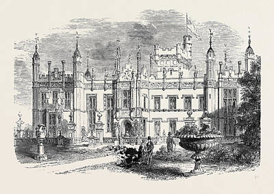 Lord Drawing - Knebworth Hertfordshire The Seat Of The Late Lord Lytton by English School