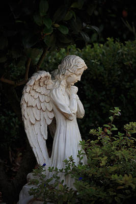 Photograph - Kneeling Angel by Kathleen Scanlan
