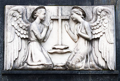 Travel Rights Managed Images - Kneeling Angels Monumental Cemetery Milan Italy Royalty-Free Image by Sally Rockefeller
