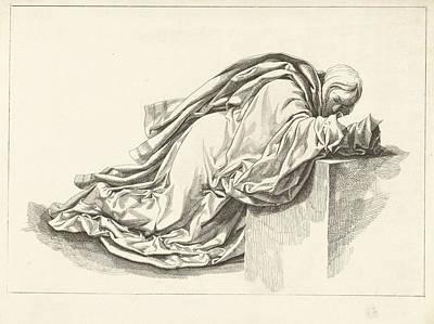 Pi Drawing - Kneeling Figure, Joannes Bemme, David Pirre Giottino by Joannes Bemme And David Pi?rre Giottino Humbert De Superville