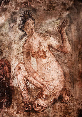 Photograph - kneeling goddess - Pompeii by Weston Westmoreland