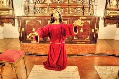 Photograph - Kneeling Jesus by Deborah Smolinske