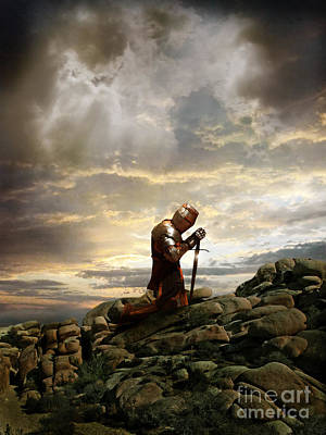 Prayer Warrior Photograph - Kneeling Knight by Jill Battaglia
