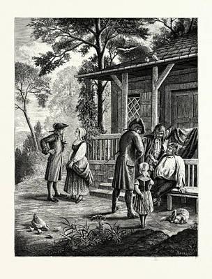 Knickerbocker Days Art Print by American School
