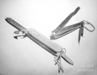 Drawing - Knife by Tamir Barkan