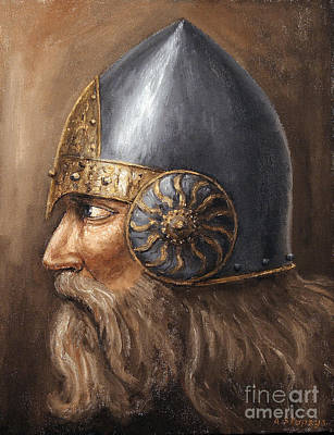 Art Print featuring the painting Knight by Arturas Slapsys