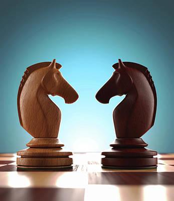 Knight Chess Pieces Art Print