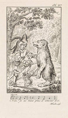 Caricature Drawing - Knight Puts A Bear Down, Danil Veelwaard by Dani?l Veelwaard (i) And Jacob Smies And Fran?ois Bohn
